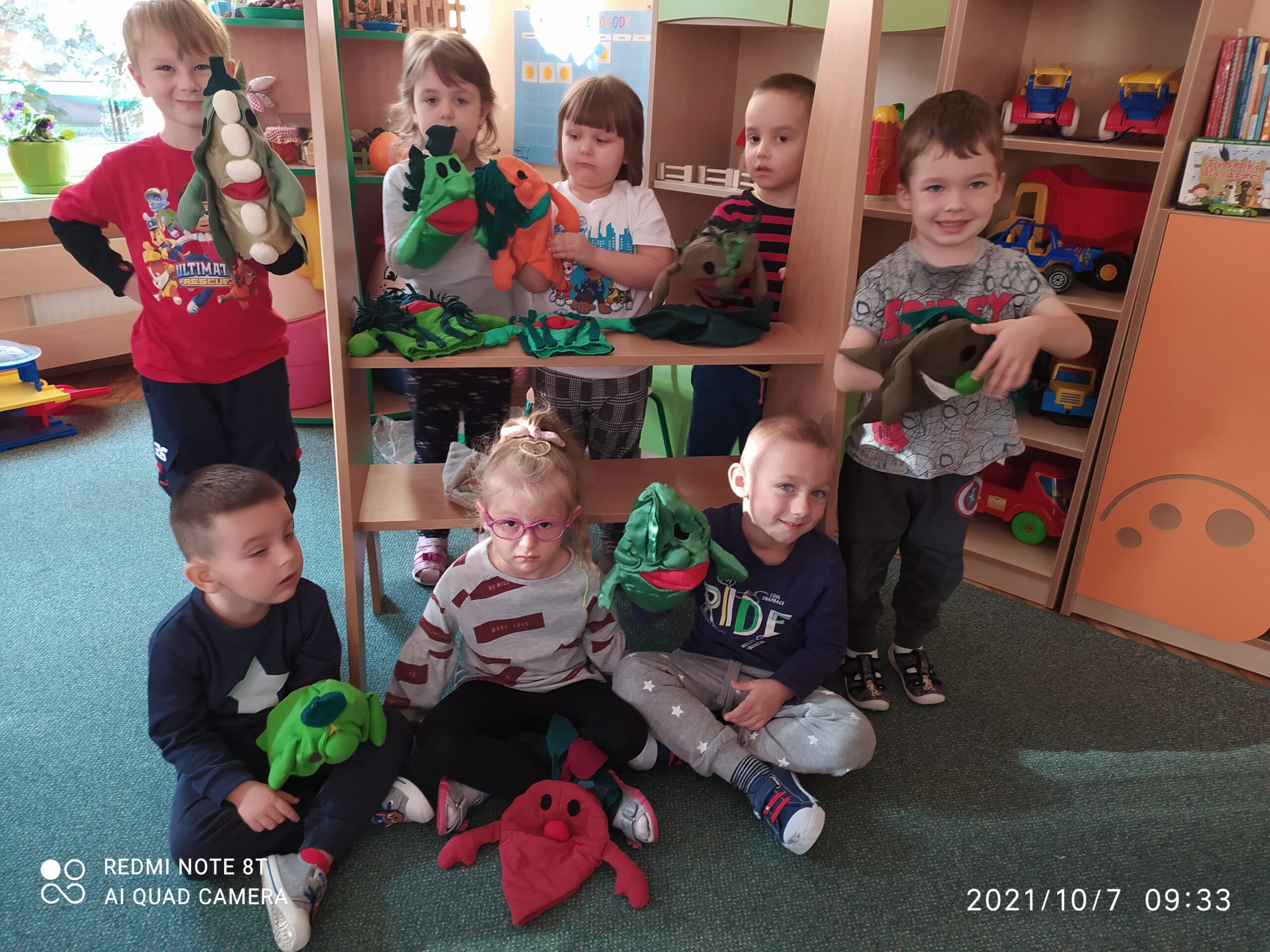 Dzieci z Grupy Stokrotki.